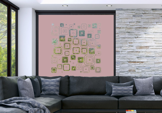 Glasdekor Retro Muster - Bild 4