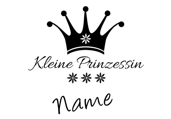 Glasdekor Wunschtext Kleine Prinzessin - Bild 6