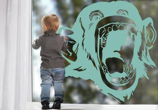 Glasdekor Lachender Affe - Bild 5