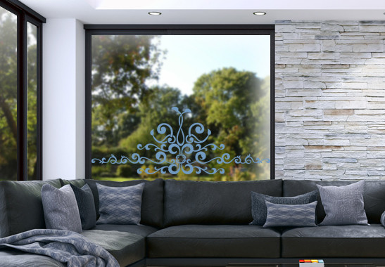 Glasdekor Barocke Verzierung