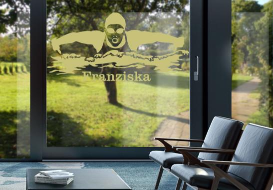 Glasdekor Wunschtext Schwimmerin - Bild 3