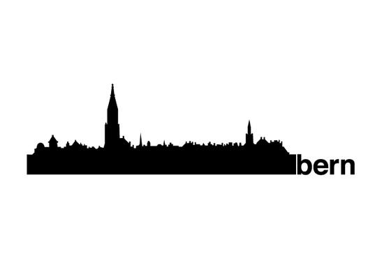 schwarz/weiss Ansicht - Wandtattoo Bern