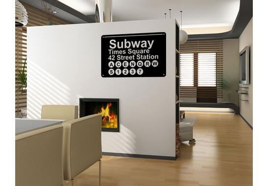 Wandtattoo Subway NY