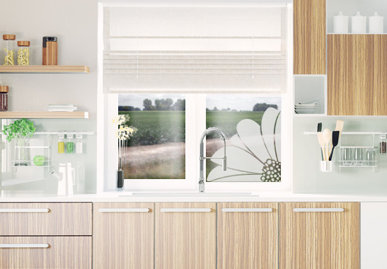 Glasdekor Gerbera Ecke - Bild 2