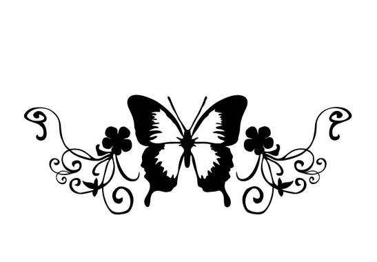 schwarz/weiss Ansicht - Wandtattoo SchmetterlingII