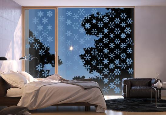 Glasdekor Schneesturm