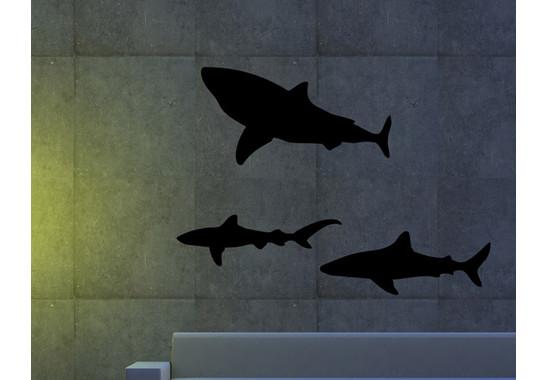 Wandtattoo Sharks in the dark