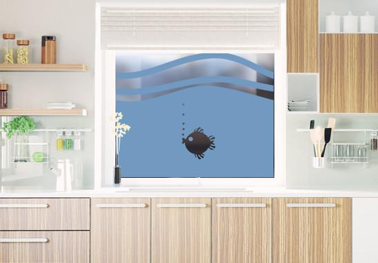 Glasdekor Rundes Fischlein