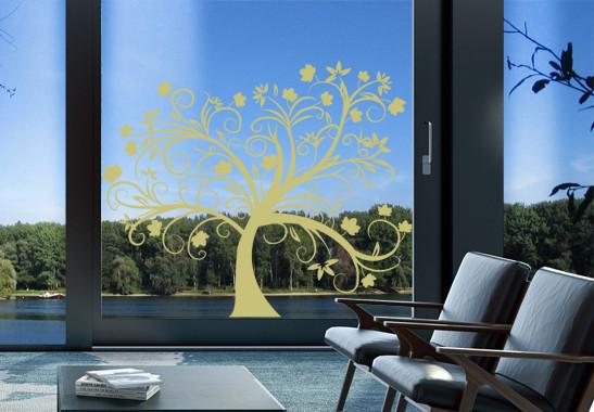 Glasdekor Herbstbaum - Bild 3