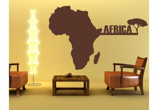 Wandtattoo Africamap