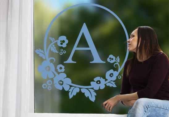 Glasdekor Wunschtext Emblem
