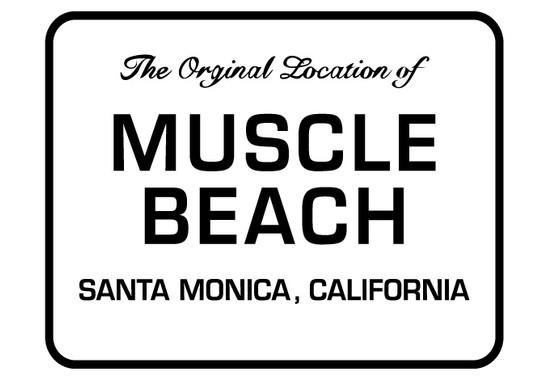 schwarz/weiss Ansicht - Wandtattoo Muscle Beach St. Monica