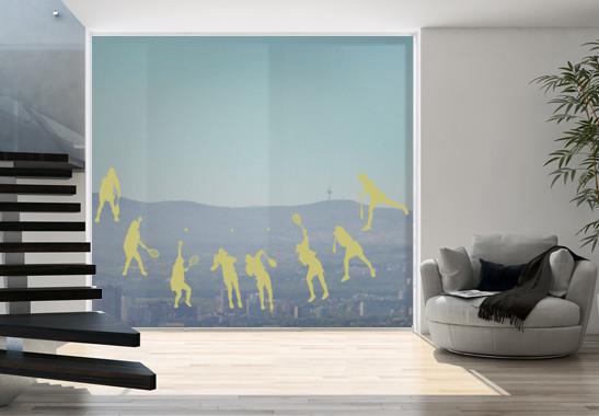 Glasdekor Tennis Aufschlag - Bild 3