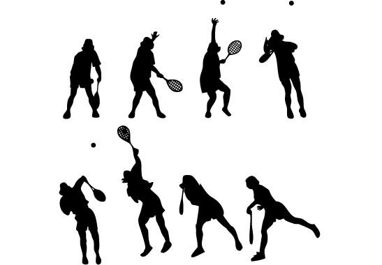 Glasdekor Tennis Aufschlag - Bild 6