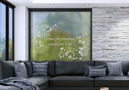 Glasdekor Wunschtext Floraler Rahmen - Bild 2