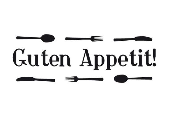 schwarz/weiss Ansicht - Wandtattoo Guten Appetit 2
