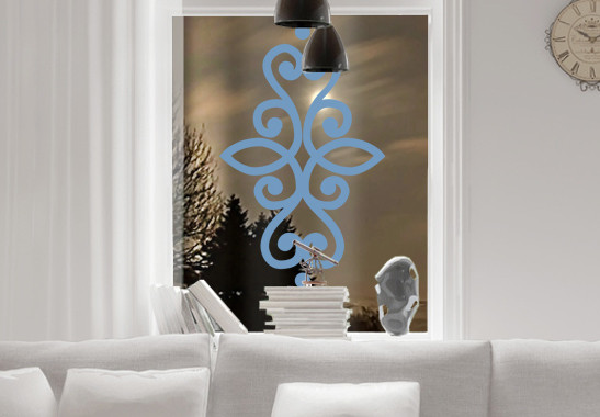 Glasdekor Indisches Ornament