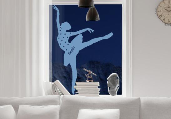 Glasdekor Wunschtext Grazile Ballerina