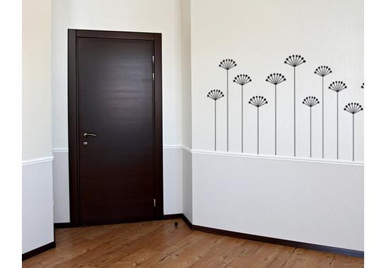 Wandtattoo Wallpaper flowers