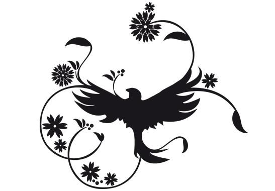 Wandtattoo Zauberhafter Vogel - Bild 2