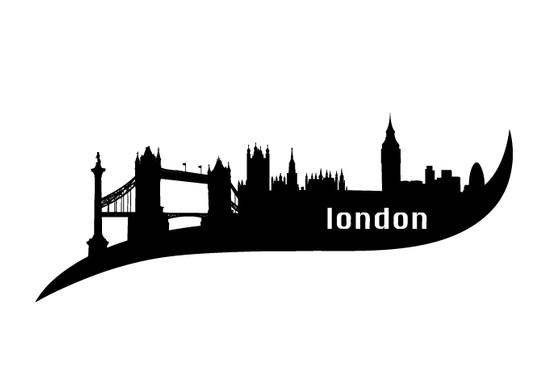 schwarz/weiss Ansicht - Wandtattoo London