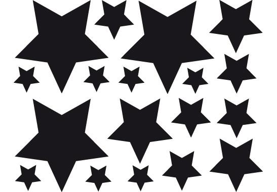 Glasdekor Funkelnde Sterne Set - Bild 6