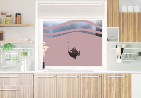 Glasdekor Rundes Fischlein - Bild 4