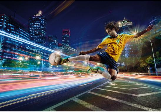 Fototapete Street Soccer - Bild 2