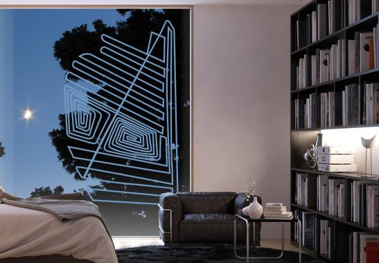 Glasdekor Nazca Linien