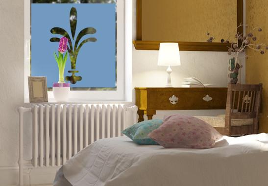 Sichtschutz Lilien Ornamentik