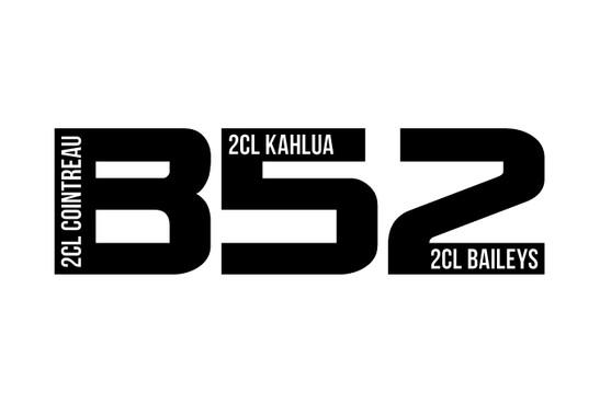 schwarz/weiss Ansicht - Wandtattoo B52