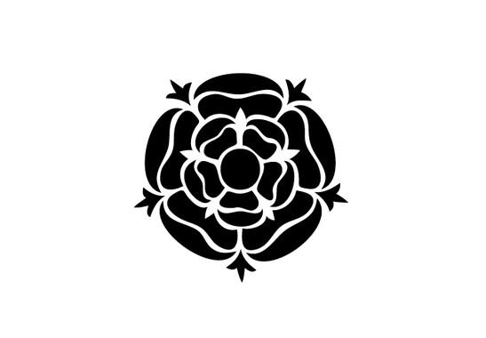 schwarz/weiss Ansicht - Wandtattoo Rose Mandala