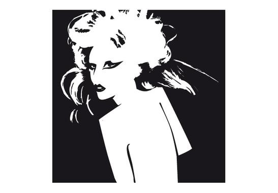 schwarz/weiss Ansicht - Wandtattoo Wallpaper Gaga I
