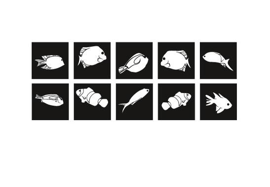 Fliesenaufkleber Korallenriff Fisch Set - Bild 3