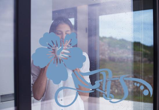 Glasdekor Floraler Hibiskus - Bild 2