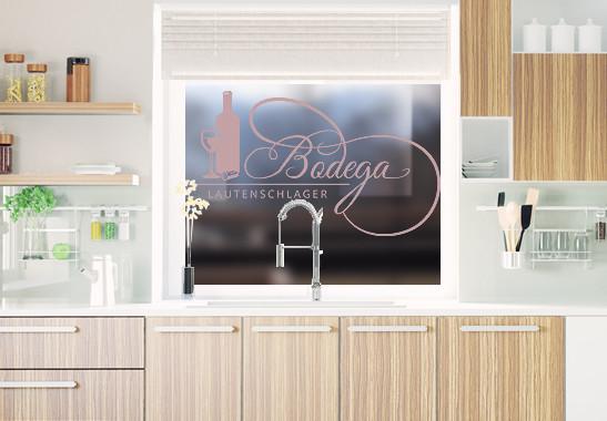 Glasdekor Wunschtext Bodega - Bild 4