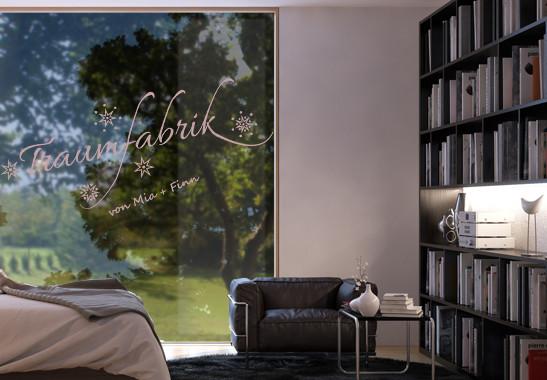 Glasdekor Wunschtext Unsere Traumfabrik - Bild 4