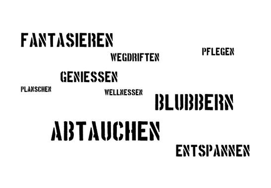 schwarz/weiss Ansicht - Wandtattoo Abtauchen