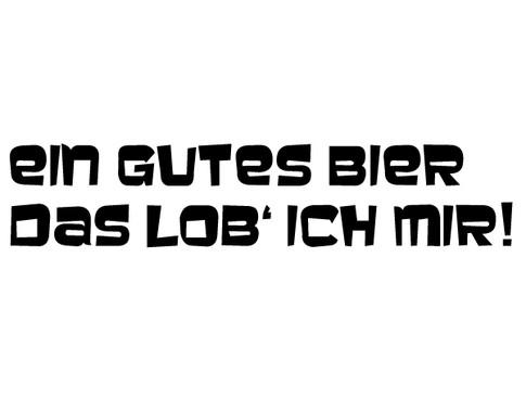 schwarz/weiss Ansicht - Wandtattoo Ein gutes Bier