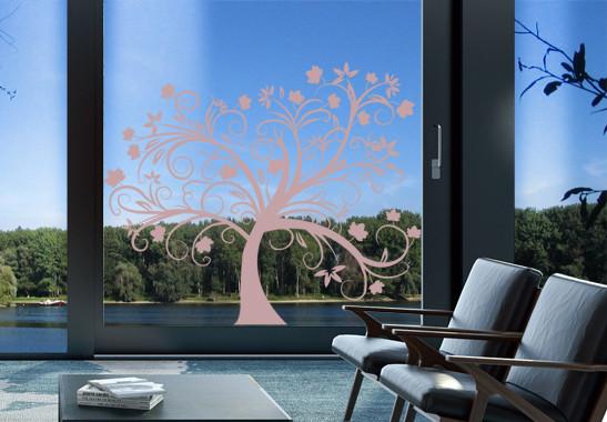 Glasdekor Herbstbaum - Bild 4
