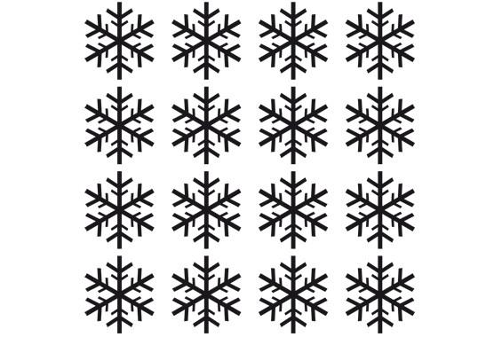 Glasdekor Schneeflöckchen Set - Bild 6