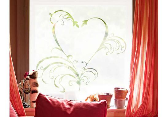 Folienfarbe in Wohnansicht: Frosted - Sichtschutz Romeo & Julia II