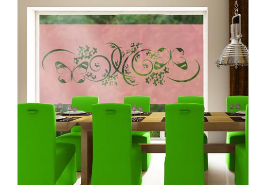 Folienfarbe in Wohnansicht: Romantic Rose - Sichtschutz Zauberhaft I