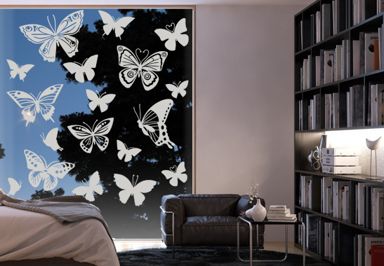 Glasdekor Schmetterlingsfamilie - Bild 2