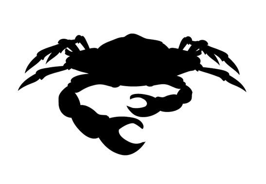 schwarz/weiss Ansicht - Wandtattoo Krabbe