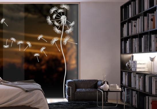 Glasdekor Löwenzahnblume - Bild 2