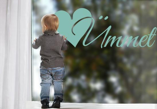 Glasdekor Wunschtext Initiale Ü - Bild 5