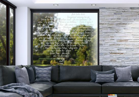 Glasdekor Die Sprache der Liebe - Bild 2