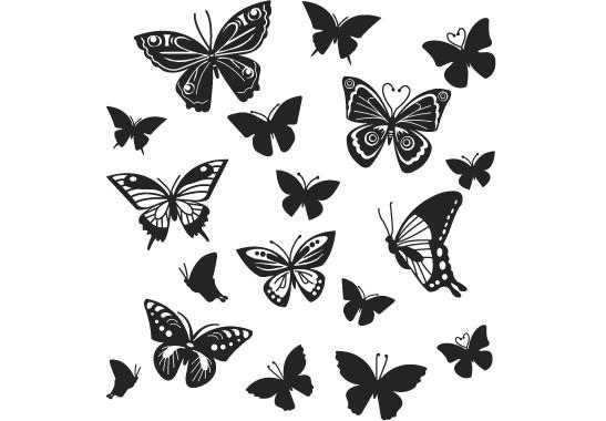 Glasdekor Schmetterlingsfamilie - Bild 6