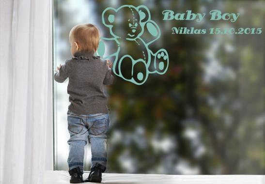 Glasdekor Wunschtext Baby Teddy - Bild 5